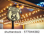 historic route 66 sign in... | Shutterstock . vector #577044382