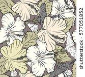hawaiian aloha shirt seamless... | Shutterstock . vector #577051852