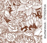 vector seamless floral pattern... | Shutterstock .eps vector #577052416