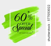sale special offer 60  off sign ... | Shutterstock .eps vector #577053022