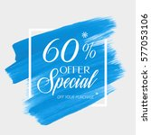 sale special offer 60  off sign ... | Shutterstock .eps vector #577053106