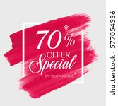 sale special offer 70  off sign ... | Shutterstock .eps vector #577054336