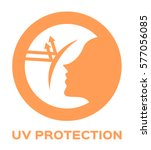 uv protection logo and icon... | Shutterstock .eps vector #577056085
