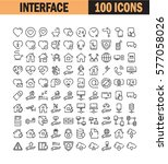 thin line icon set. collection... | Shutterstock .eps vector #577058026