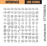 thin line icon set. collection... | Shutterstock .eps vector #577058056