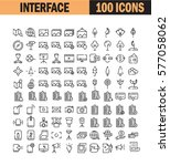thin line icon set. collection... | Shutterstock .eps vector #577058062