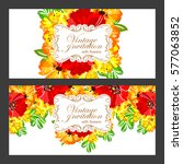 vintage delicate invitation...   Shutterstock .eps vector #577063852