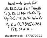 handmade brush vector font | Shutterstock .eps vector #577070722