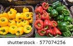 bell pepper green  yellow and... | Shutterstock . vector #577074256