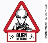 alien on board sign | Shutterstock .eps vector #577074868