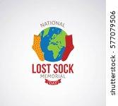 lost sock memorial day vector... | Shutterstock .eps vector #577079506