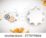 vector illustration  hi tech... | Shutterstock .eps vector #577079806