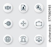 set of 9 business management... | Shutterstock .eps vector #577080985