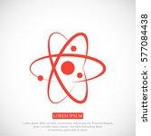 atom sign icon  vector best... | Shutterstock .eps vector #577084438
