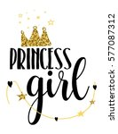 princess girl typography... | Shutterstock .eps vector #577087312