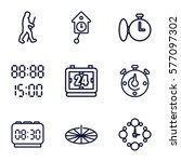 Time Icon. Set Of 9 Time...