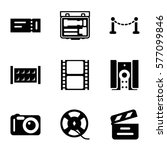 cinema icon. set of 9 cinema... | Shutterstock .eps vector #577099846