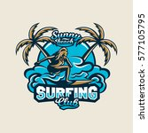 colorful logo  emblem  sticker  ... | Shutterstock .eps vector #577105795