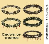 crown of thorns of jesus christ.... | Shutterstock .eps vector #577107076