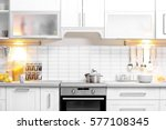 Stock photo modern kitchen interior 577108345