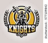 colorful logo  emblem  a knight ... | Shutterstock .eps vector #577109842