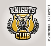 colorful logo  emblem  a knight ... | Shutterstock .eps vector #577109845