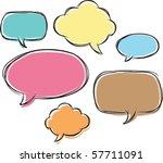 comical bubble talk   Shutterstock .eps vector #57711091