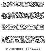 various ornamental borders and...