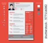 vector creative minimalist cv... | Shutterstock .eps vector #577116082