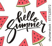 hello summer lettering and... | Shutterstock .eps vector #577120372