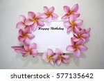 happy birthday word on the... | Shutterstock . vector #577135642