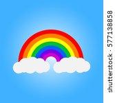 vector symbol of rainbow and... | Shutterstock .eps vector #577138858