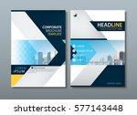 blue yellow flyer design...   Shutterstock .eps vector #577143448