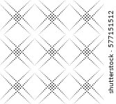 dotted line geometric seamless... | Shutterstock .eps vector #577151512