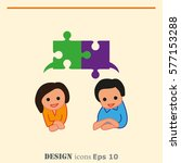 group of people icon  friends... | Shutterstock .eps vector #577153288
