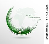 green eco. composition of grass ... | Shutterstock . vector #577158826