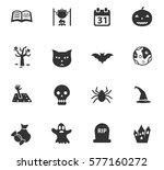 halloween vector icons for user ... | Shutterstock .eps vector #577160272