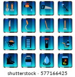 garden tools web icons for user ... | Shutterstock .eps vector #577166425