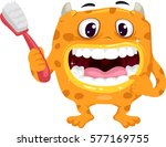 illustration featuring a cute...   Shutterstock .eps vector #577169755