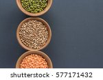 cereals on black background.... | Shutterstock . vector #577171432