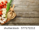 rice and other products on... | Shutterstock . vector #577172212