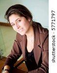 business woman portrait smiling ... | Shutterstock . vector #5771797