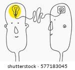 creation ideas concept.... | Shutterstock .eps vector #577183045