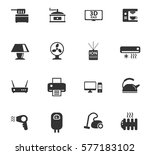 home appliances vector icons... | Shutterstock .eps vector #577183102
