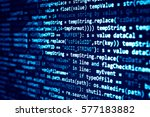software developer programming... | Shutterstock . vector #577183882