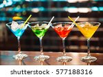 multicolored cocktails at the... | Shutterstock . vector #577188316
