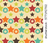 abstract retro seamless pattern ... | Shutterstock . vector #577192702