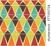 abstract retro seamless pattern ... | Shutterstock . vector #577192726