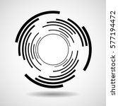 abstract circle with lines ... | Shutterstock .eps vector #577194472