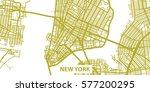 detailed vector map of new york ... | Shutterstock .eps vector #577200295